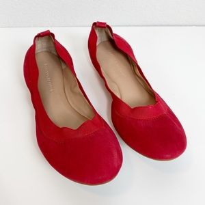 Banana Republic red leather ballet flats size 7